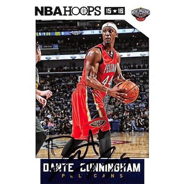 watch 3a6b6 a626b Dante Cunningham Autographed Basketball Card - New Orleans Pelican