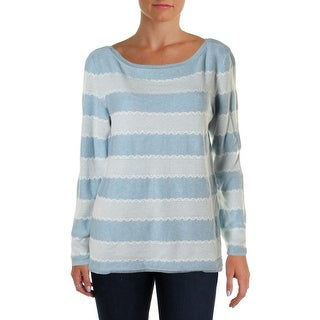 Tommy Hilfiger Womens Pullover Sweater Heathered Lace Trim (3 options available)