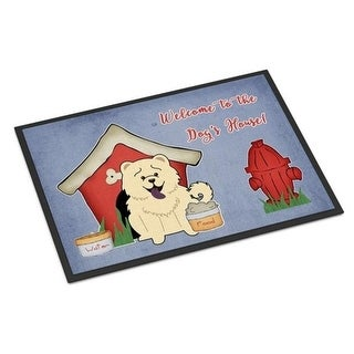 Carolines Treasures BB2894MAT Dog House Collection Chow Chow White Indoor or Outdoor Mat 18 x 0.25 x 27 in.