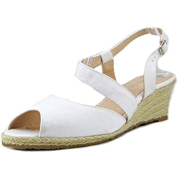 Beacon Womens Bonita Fabric Peep Toe Casual Espadrille Sandals. Opens flyout.