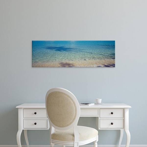 Easy Art Prints Panoramic Image 'Hawksnest Bay, Virgin Islands National Park, St. John, US Virgin Islands' Canvas Art