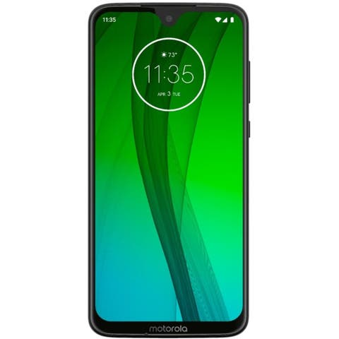 Motorola Moto G7 XT1962-4 64GB Unlocked GSM Phone w/ Dual 12MP & 5MP Camera - Ceramic Black
