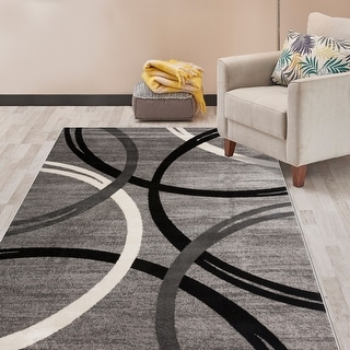 Link to Contemporary Abstract Circles Design Area Rug Similar Items in Transitional Rugs