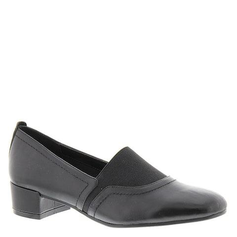 David Tate Womens Gianna Leather Closed Toe Loafers