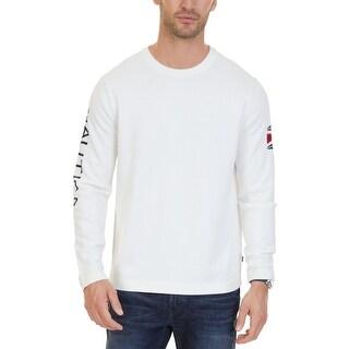 Nautica Marshmallow White Mens Size 2XL Logo Crewneck Sweater