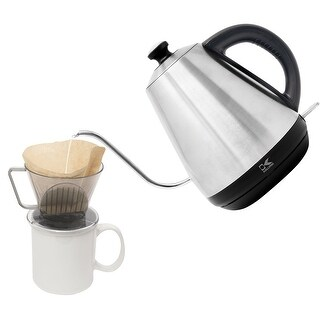 Kalorik Gooseneck Electric Kettle - 1 Liter Easy Pour Cordless Jug Boils Water for Coffee, Tea