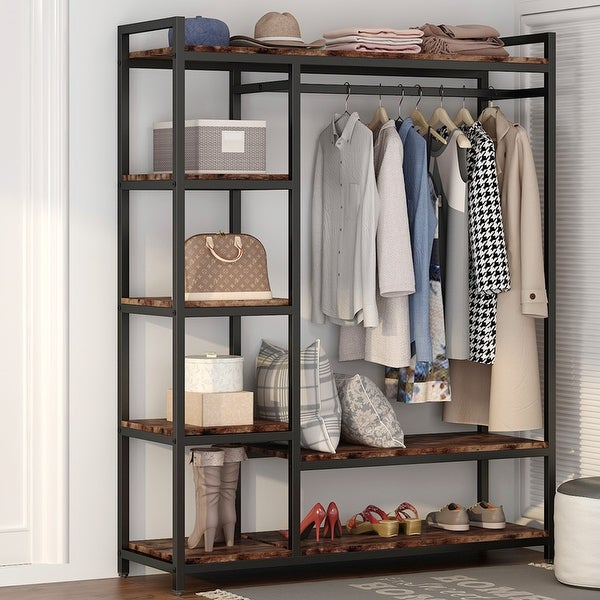 Freestanding Closet Organizer with Shelves. Opens flyout.