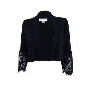 4e6453f72765 Quick View. Was  59.98.  9.00 OFF. Sale  50.98. Calvin Klein Women s  Lace-Bell-Sleeve Shrug - Black