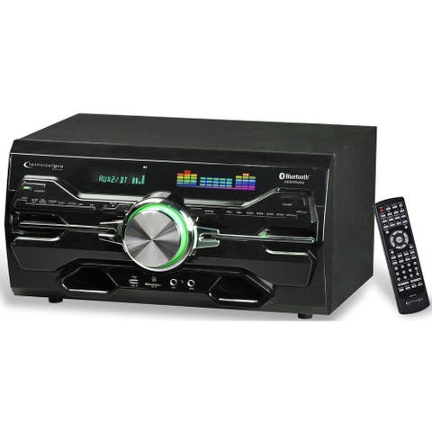 Technical Pro 4000 Watts Professional Bluetooth Home Audio Receiver with Built-in DVD Player, Dual 1/4'' Mic and USB SD Inputs
