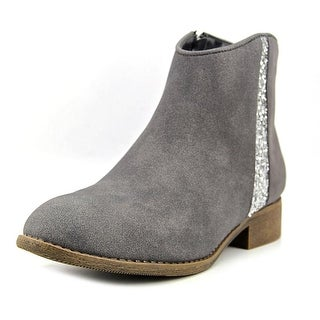 Nina Svetlana Youth Round Toe Synthetic Gray Bootie
