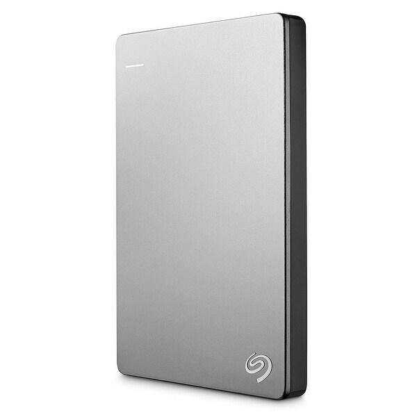 Seagate Backup Plus Stds1000100 Slim For Mac 1Tb External Usb 3.0 Portable Hard Drive - Silver/Black