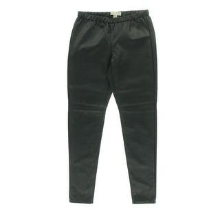 MICHAEL Michael Kors Womens Faux Leather Elastic Waist Leggings - 14