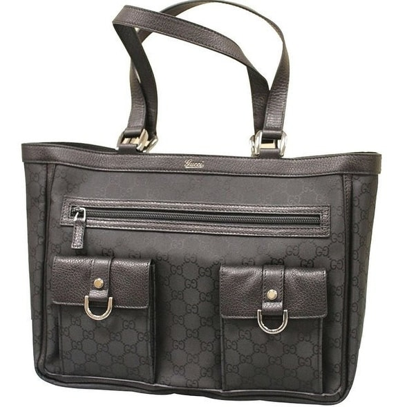 56ecdb8134e7ee Gucci Black Nylon Tote | Stanford Center for Opportunity Policy in ...