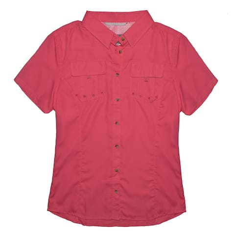 Victory Outfitters Ladies' Woven Utility Button Up Short Sleeve Shirt