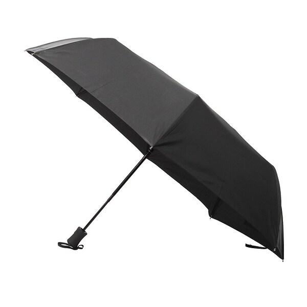 VECELO Automatic Travel Umbrella ,Outdoor Sports Lightweight Windproof Black Umbrella