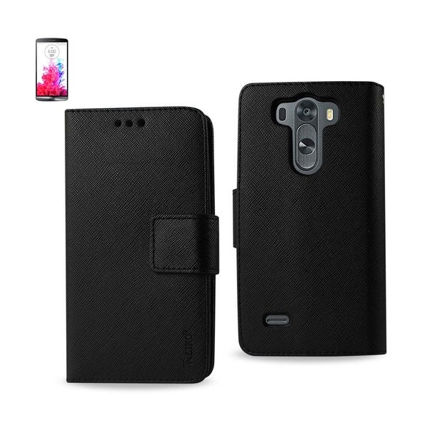 REIKO LG G3 MINI 3-IN-1 WALLET CASE IN BLACK