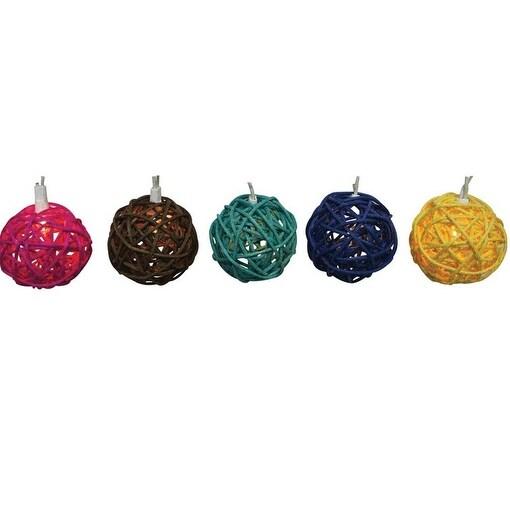 Sienna 624F613H Rattan Ball Light Set