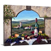 Barbara Felisky Premium Thick-Wrap Canvas entitled A Tuscany Vista
