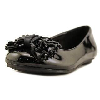 Laura Ashley 24845 Youth Round Toe Synthetic Black Ballet Flats (Option: 13)