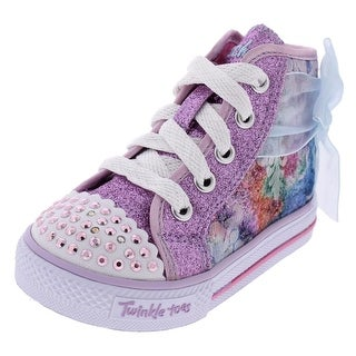 Twinkle Toes by Skechers Girls Buzzing Blossom Fashion Sneakers Glitter Bow - 5 medium (b,m) toddler
