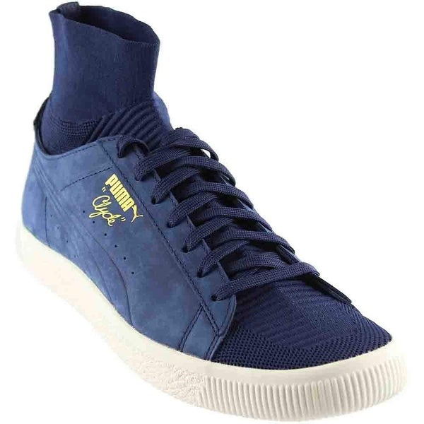 Puma Mens Clyde Sock Leather Low