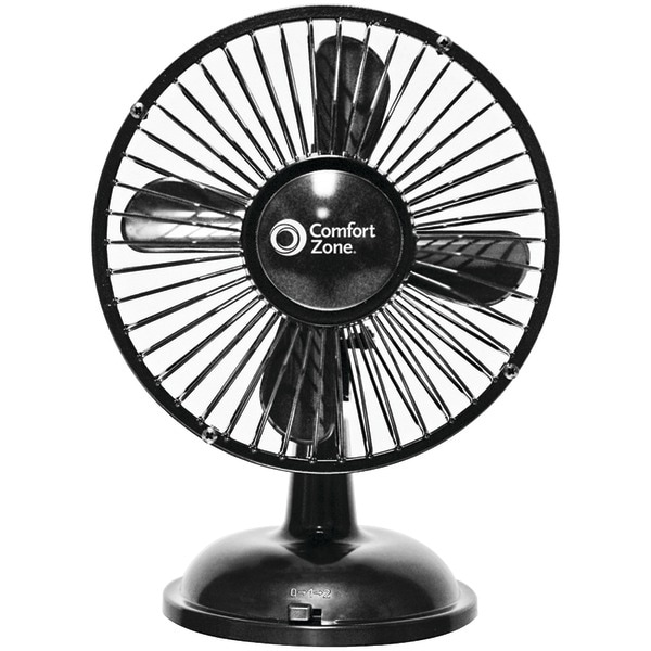 Comfort Zone Cz5Usbbk Battery/Usb Oscillating Desk Fan