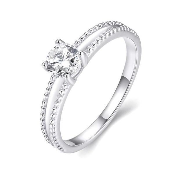White Gold Plated Elegant Cut Ring