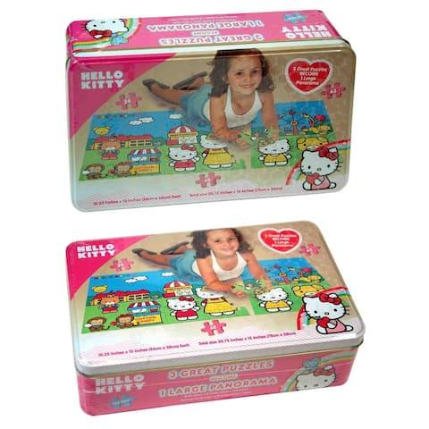 Hello Kitty Panorama Tin Puzzle, 3-Pack