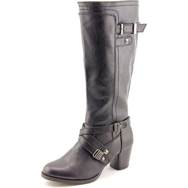 Rialto Claudette Wide Calf Women Round Toe Synthetic Black Knee High Boot