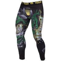Venum Crocodile Durable Dry Tech MMA Compression Spats - Black/Green