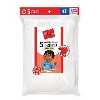 Hanes Toddler Boys' Crew Undershirts 5-Pack - 4