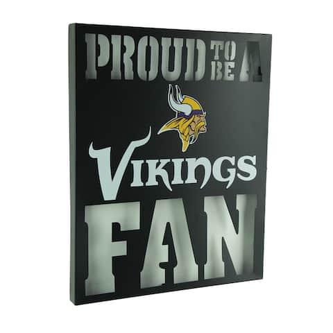 Proud to Be A Minnesota Vikings Fan Cutout Metal Wall Sign - 14.75 X 12 X 1 inches
