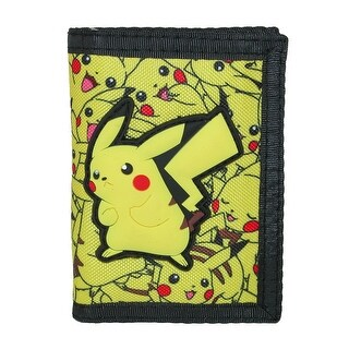 BioWorld Kid's Pokemon Pikachu Trifold Wallet - Yellow - One size