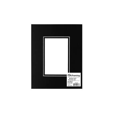 ADF Mat Dbl 8x10/4x6 WhtCore Black/Black - Black