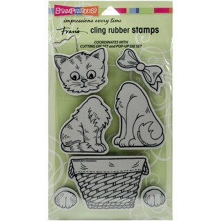 """Stampendous Cling Stamps 5""""X7""""-Pop Up Kitties"""