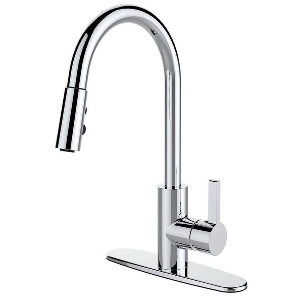 Single Handle Pull-down Deck Mounted Kitchen Faucet. Opens flyout.