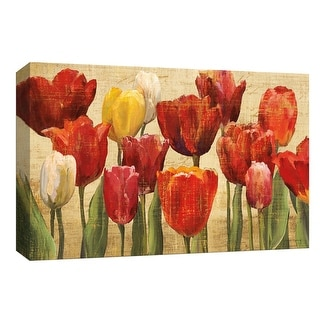 """PTM Images 9-153848  PTM Canvas Collection 8"""" x 10"""" - """"Tulip Fantasy Cream"""" Giclee Flowers Art Print on Canvas"""