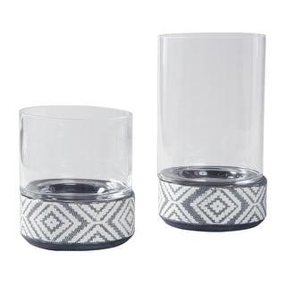 Dornitilla Candle Holder Set 2CN - Black-White A2000261 Dornitilla Candle Holder Set 2CN - Black-White