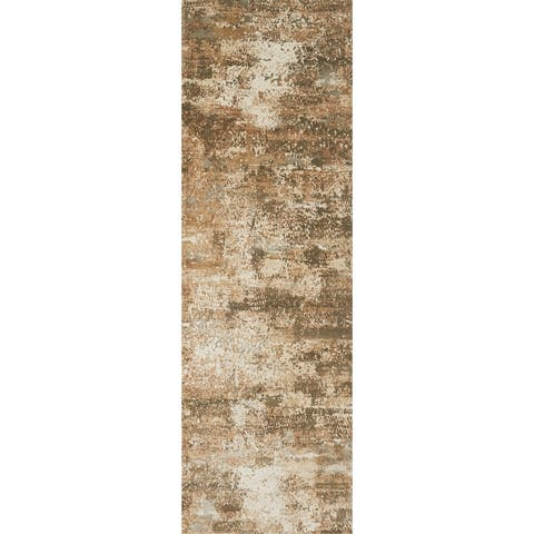 Alexander Home Augustus Modern Distressed Abstract Rug