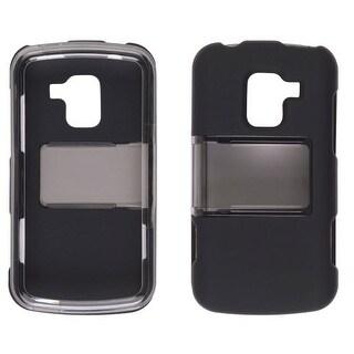 Wireless Solutions Hybrid Slide Snap Case for LG Enlighten VS700 - Smoke/ Black