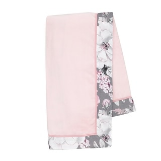 Link to Lambs & Ivy Signature Botanical Baby Pink Watercolor Floral Fleece Baby Blanket Similar Items in Baby Blankets