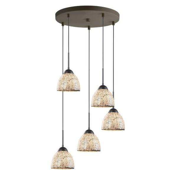 "Corbett Lighting Sales Rep: Shop Woodbridge Lighting 13625MEB-M21WHT 5-Light 16"" Wide"