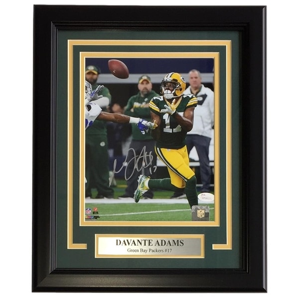7a898482 Davante Adams Signed Framed 8x10 Green Bay Packers Catch Photo JSA ITP
