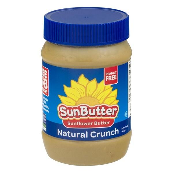 Sunbutter Sunflower Butter - Natural Crunch - Case of 6 - 16 oz.