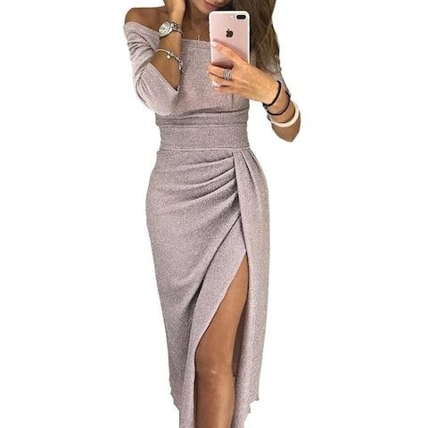 Ladies Bag Hips Open Collar Collar Dress Dress Skirt
