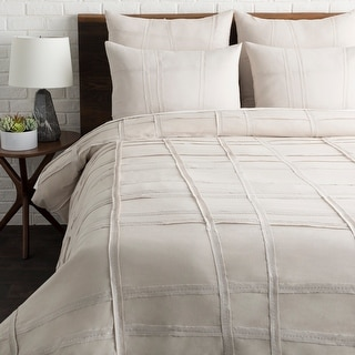Link to Lesleigh Light Gray Modern Duvet Cover Set Similar Items in Duvet Covers & Sets