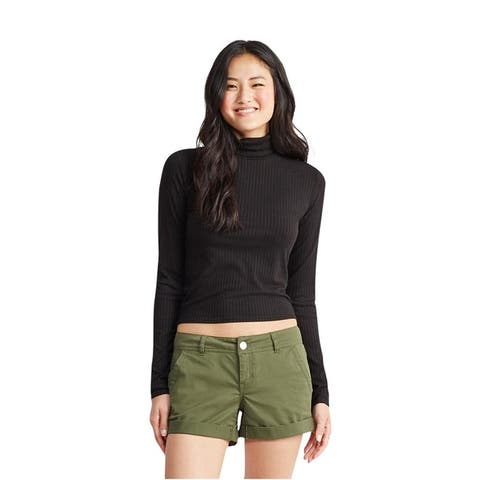 Aeropostale Womens Ribbed Turtleneck Pullover Sweater