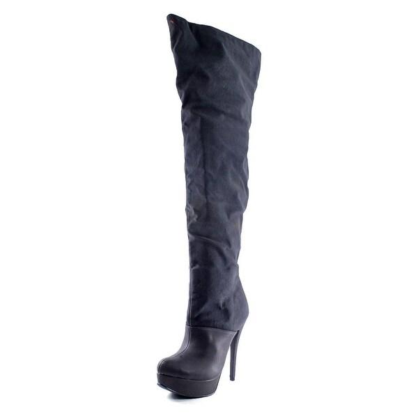 Michael Antonio Hesper Slouch Women Round Toe Synthetic Black Over the Knee Boot