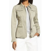 Nordstrom Collection Green Womens Size Large L Military Jacket