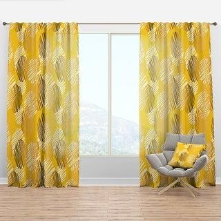 Designart Abstract Retro Geometric Iii Mid Century Modern Curtain Panel On Sale Overstock 29626155